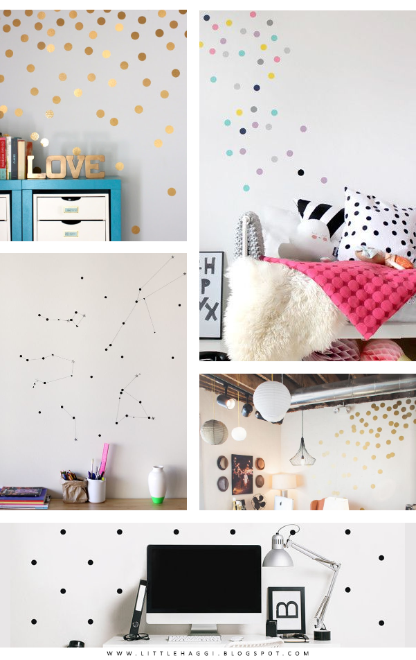 inspiracion paredes polka dots