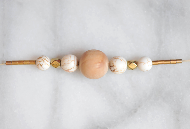 DIY Gold Wood Marble Modern Necklace Tutorial