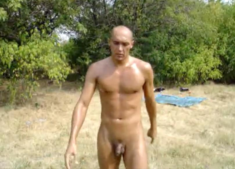 Nude male exercise