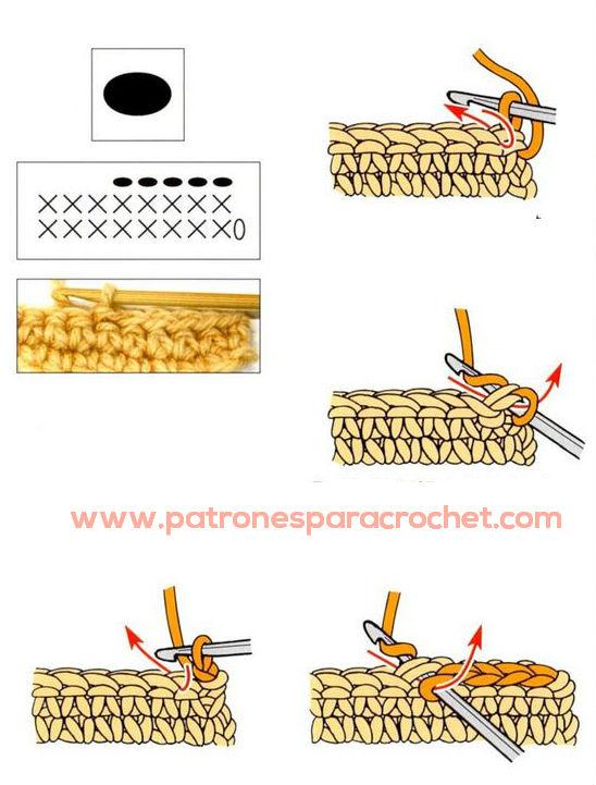 Cómo se hace el punto enano al crochet