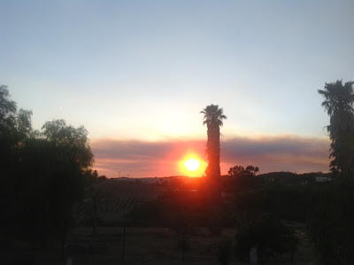 sunset on Camp Pendleton fire
