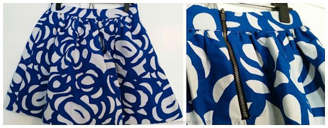blue, white, skirt, details, style, fashion, women's clothing, Buffalo Exchange, consignment, love...ady, skirt, short skirt, cute