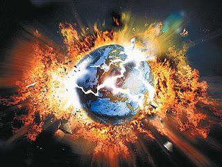 Fin del Mundo y la Tierra explotando