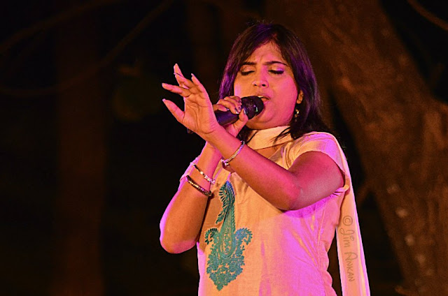 Singer Sinchan Dixit at Rongali Bihu festival in Bangalore (photo - Jim Ankan Deka)