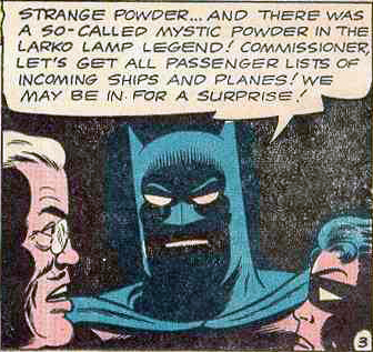 Detective 322 panel: Batman with face in shadow