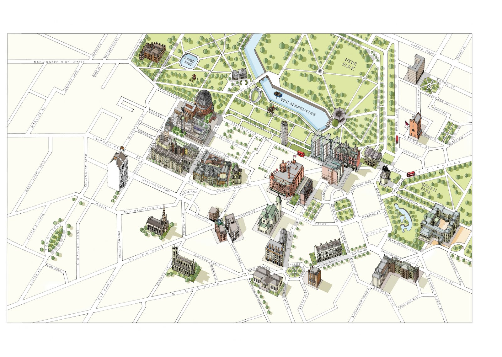 Katherine Baxter illustrator ILLUSTRATED MAP OF LONDON