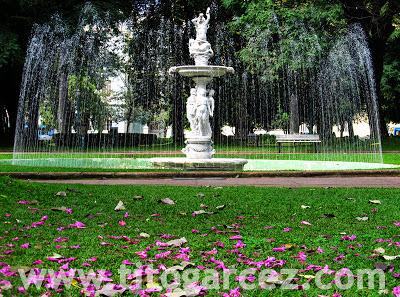 Uma das fontes da  Praça da Liberdade, em Belo Horizonte - Minas Gerais