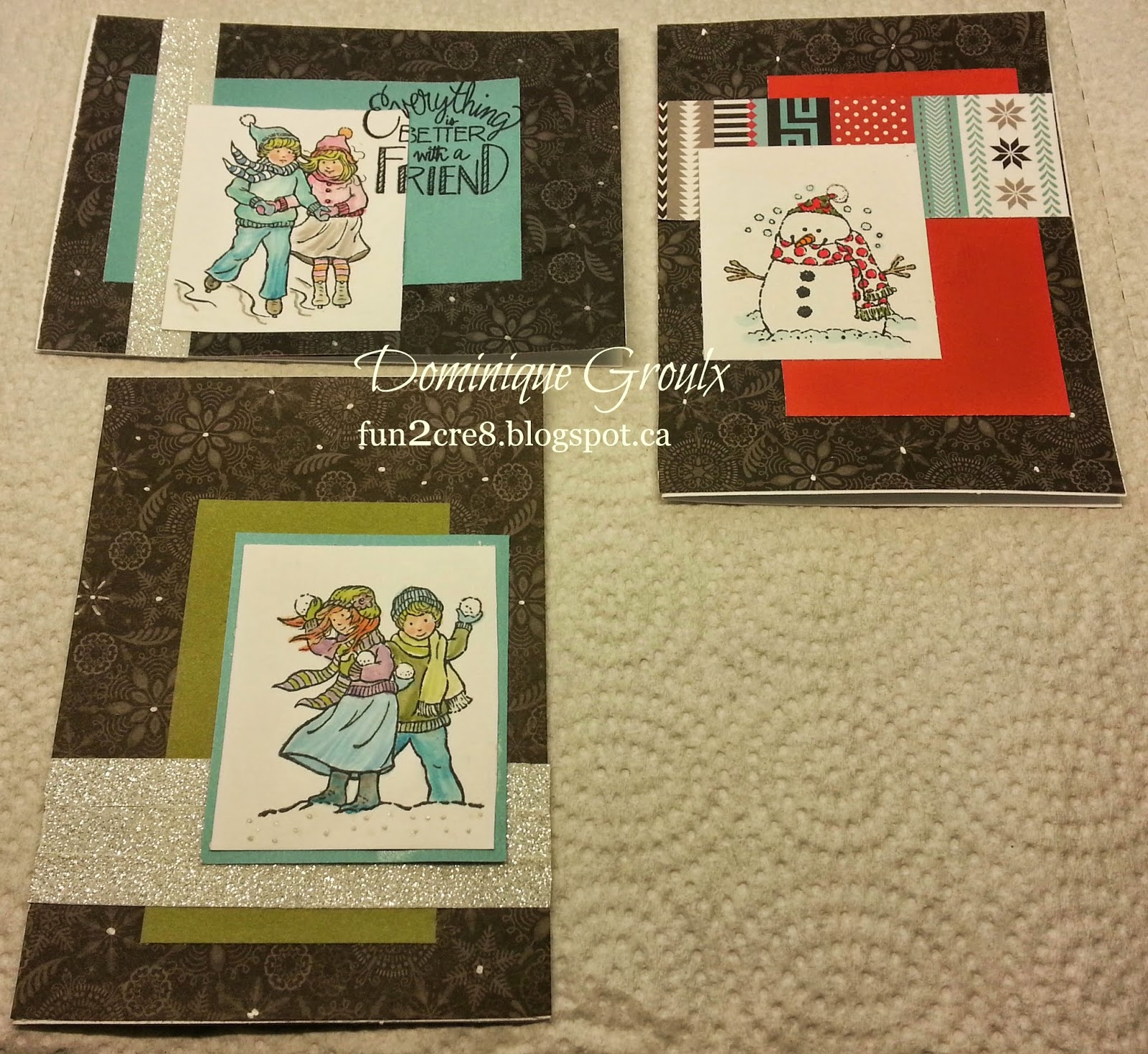 CTMH snowhaven winter cards fun2cre8.blogspot.ca