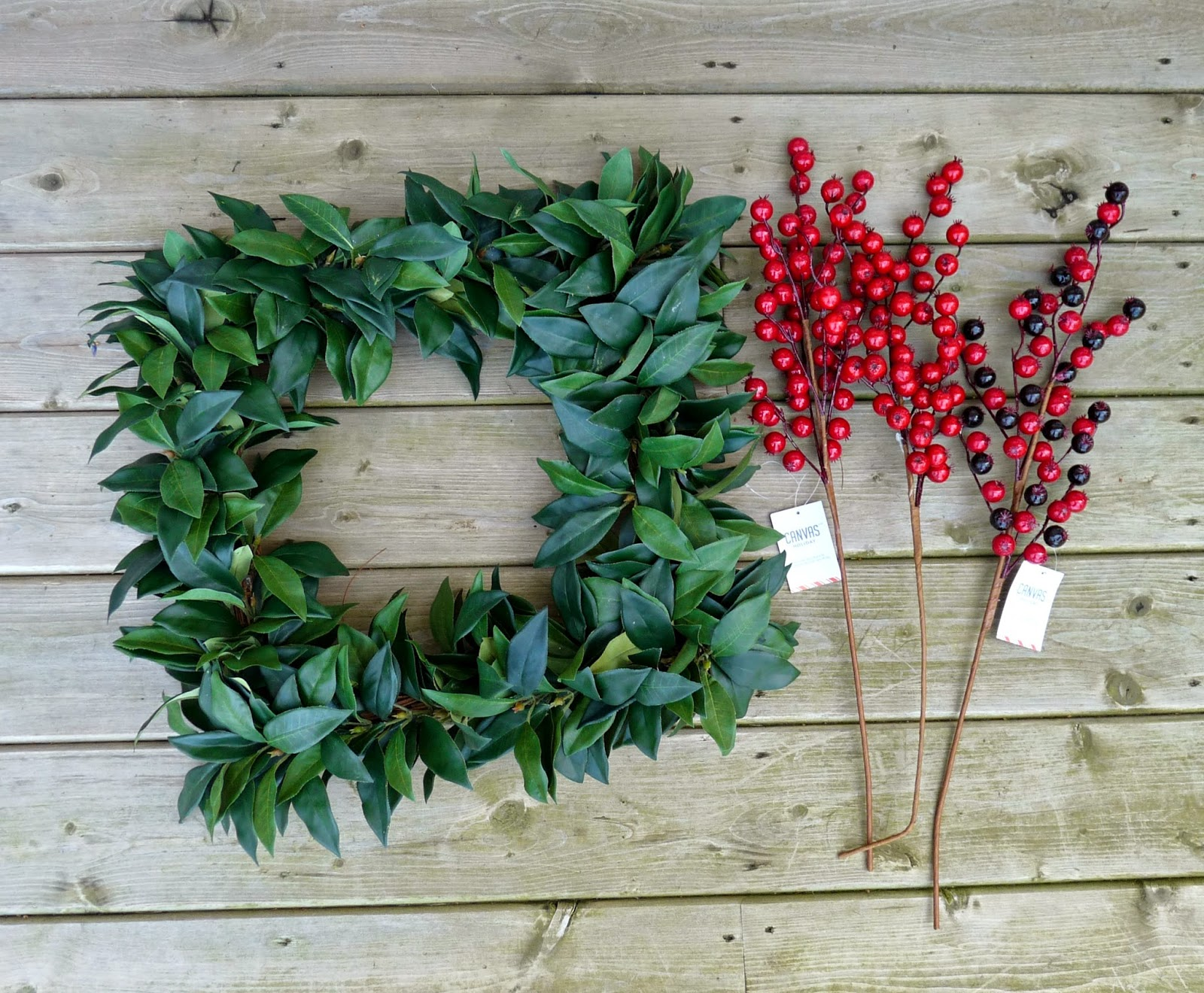 Square holiday wreath