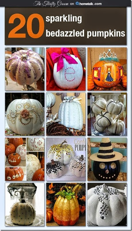 Sparkly Bedazzling Pumpkins!