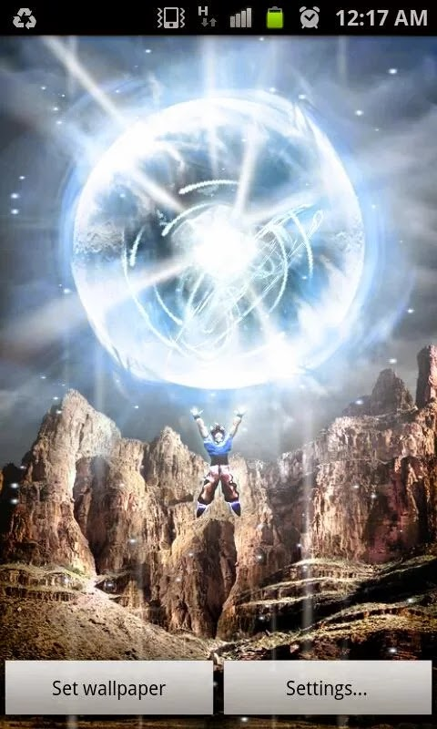 Infinito apk dragon ball live wallpaper apk full - Goku kamehameha live wallpaper ...