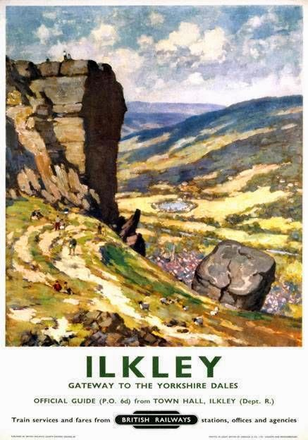 Retro Ilkley, Yorkshire Dales travel poster