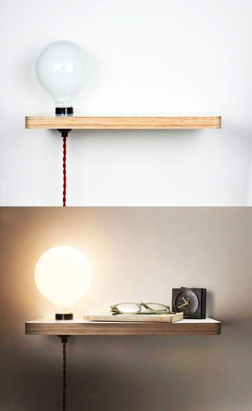 Tables de chevet 30 id es d co blog d co mydecolab for Lampe a accrocher au lit