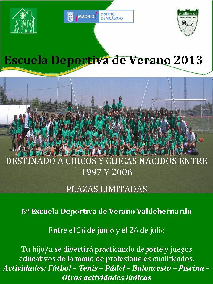 Escuela deportiva de verano 2013 vicalv blog distrito for Piscina valdebernardo