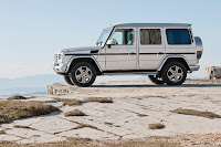 2012 New Mercedes G350 BlueTEC revised refresh restyled change generation official press media source off-road