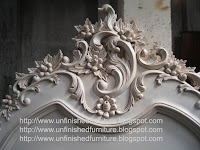 Indonesia furniture supplier French bed with painted
