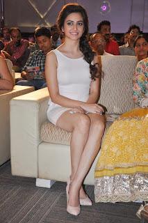 Actress Kriti Kharbanda  Picture Gallery in Short Dress at Lakshmi Raave Maa Intiki Audio Launch  3.jpg
