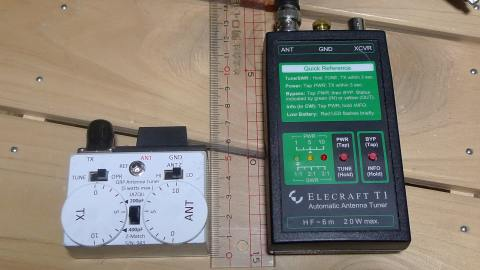JA7QIL tuner and Elecraft T1 ATU