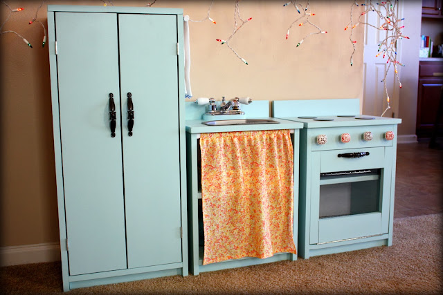 DIY Full Play Kitchen - Refrigerator, Sink, Oven