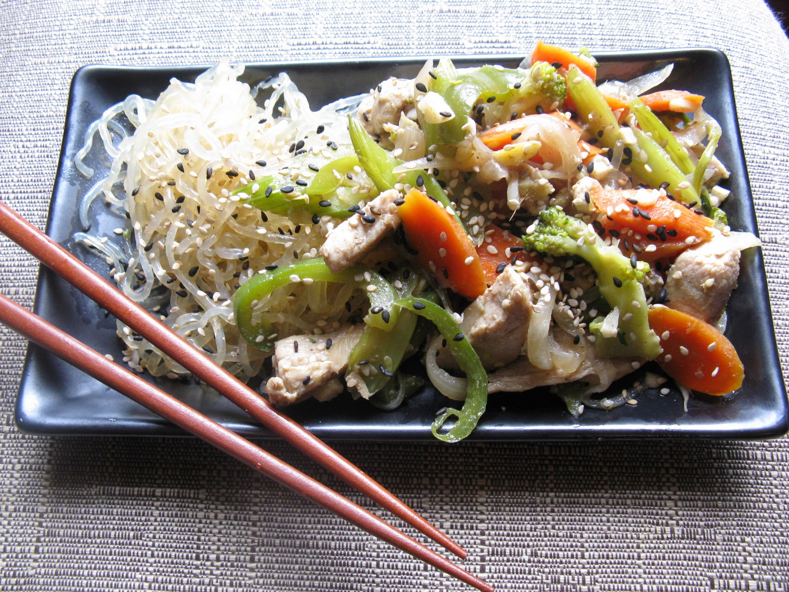 For the Love of Food!: Ginger and Sesame Stir Fry with Kelp Noodles ...