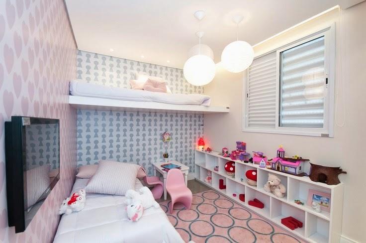 Decoração 10 quartos planejados para meninas, as  ~ Quarto Planejado Para Duas Irmas