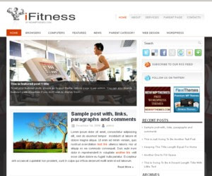 iFitness WordPress Theme