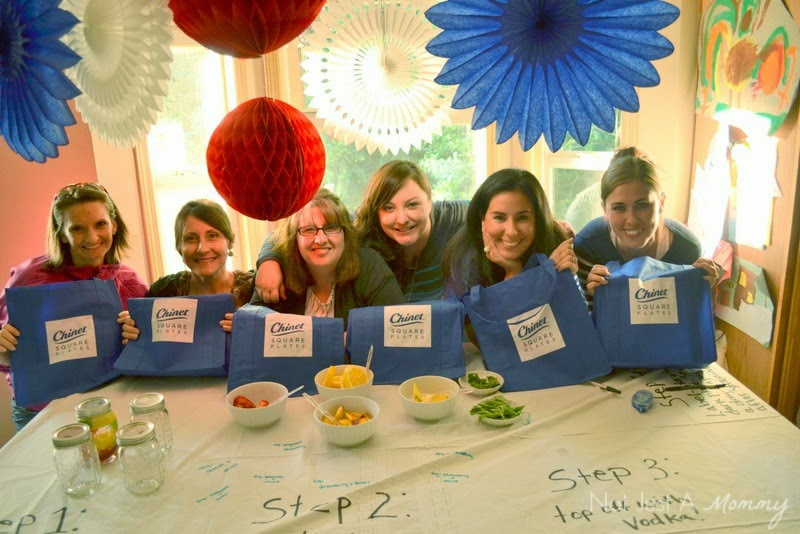 It's Hip to be Square with Chinet® House Party GNO group