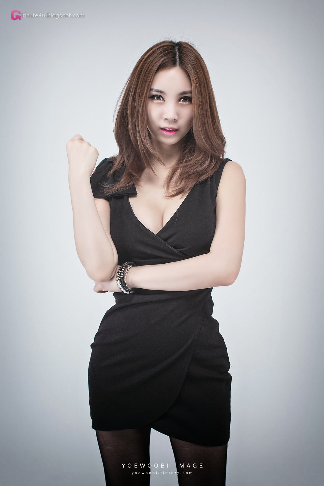 3 Lee Eun Yu - Little Black Dress - very cute asian girl-girlcute4u.blogspot.com