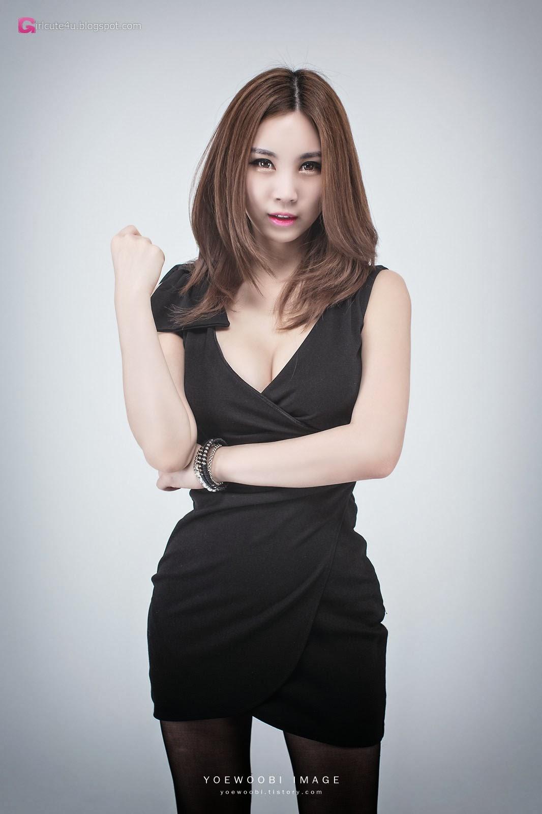 3 Lee Eun Yu - Little Black Dress - very cute asian girl-girlcute4u.blogspot.com
