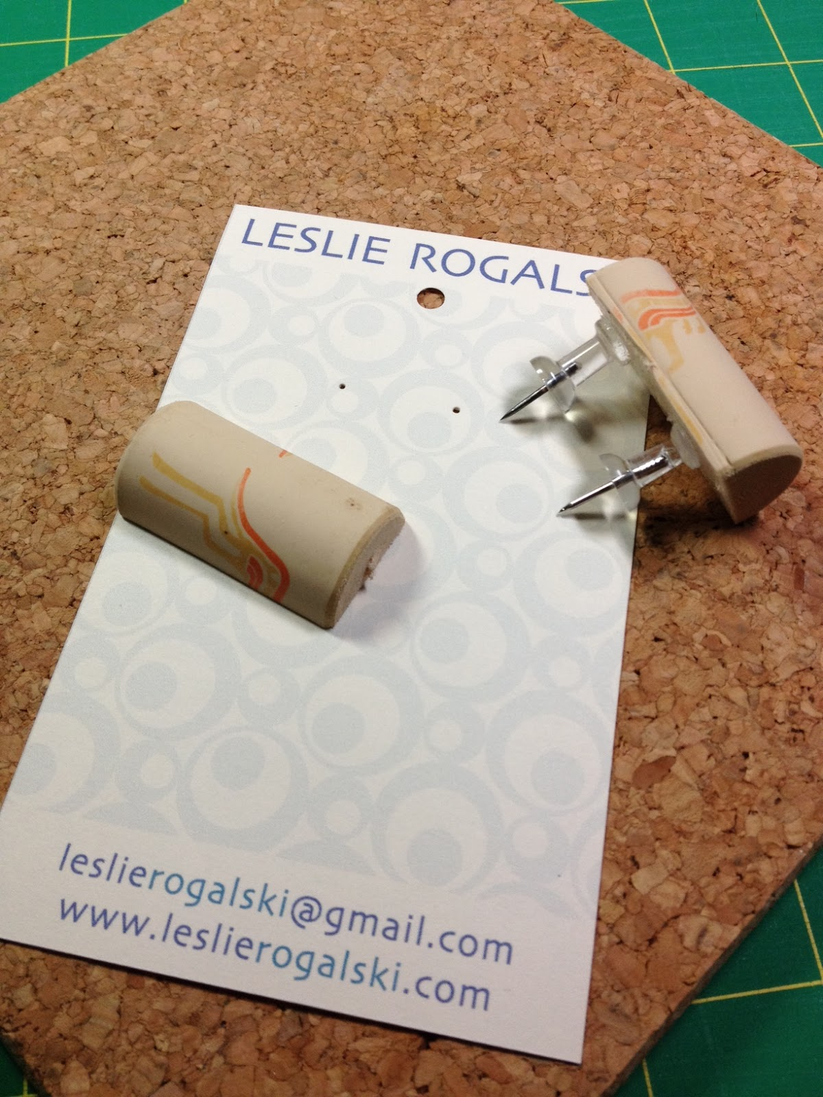 Cork Earring Card Hole Punch With Push Pins