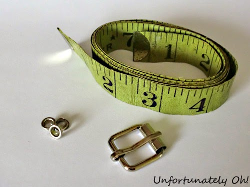 measuring tape belt DIY