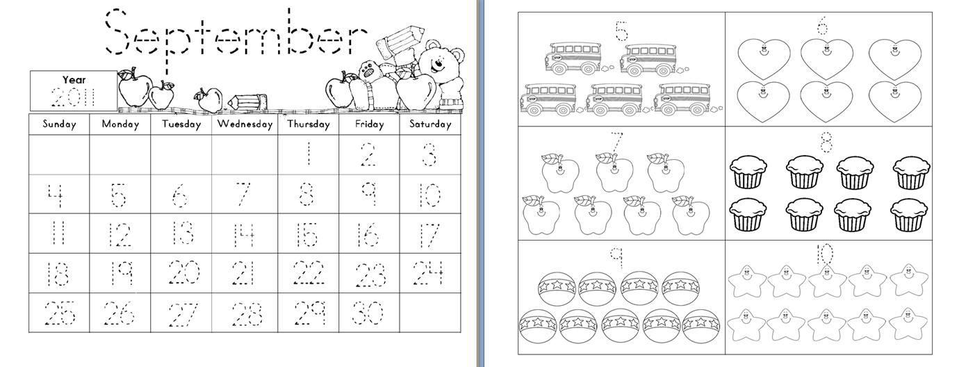 Calendar Trace Kindergarten : Aloha kindergarten august