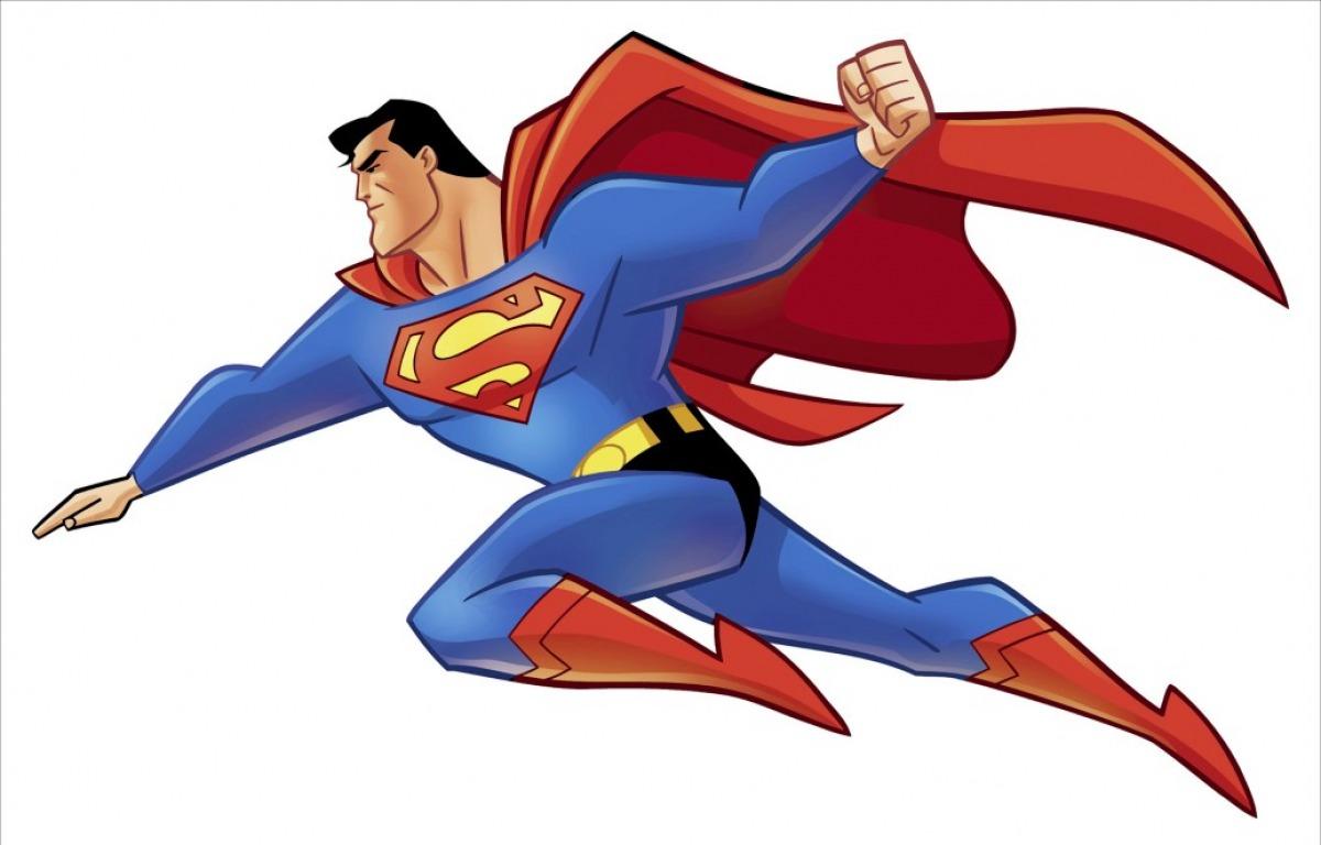 Superman Flying Cartoon