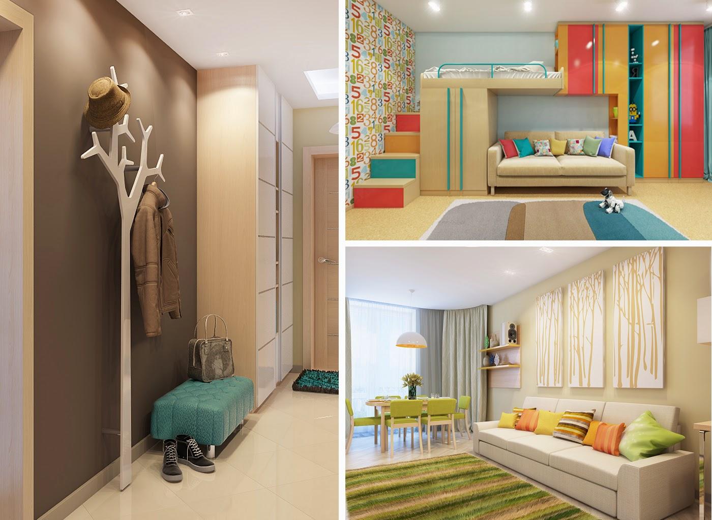 Дизайн интерьера квартиры 100 м кв в ЖК Чайка