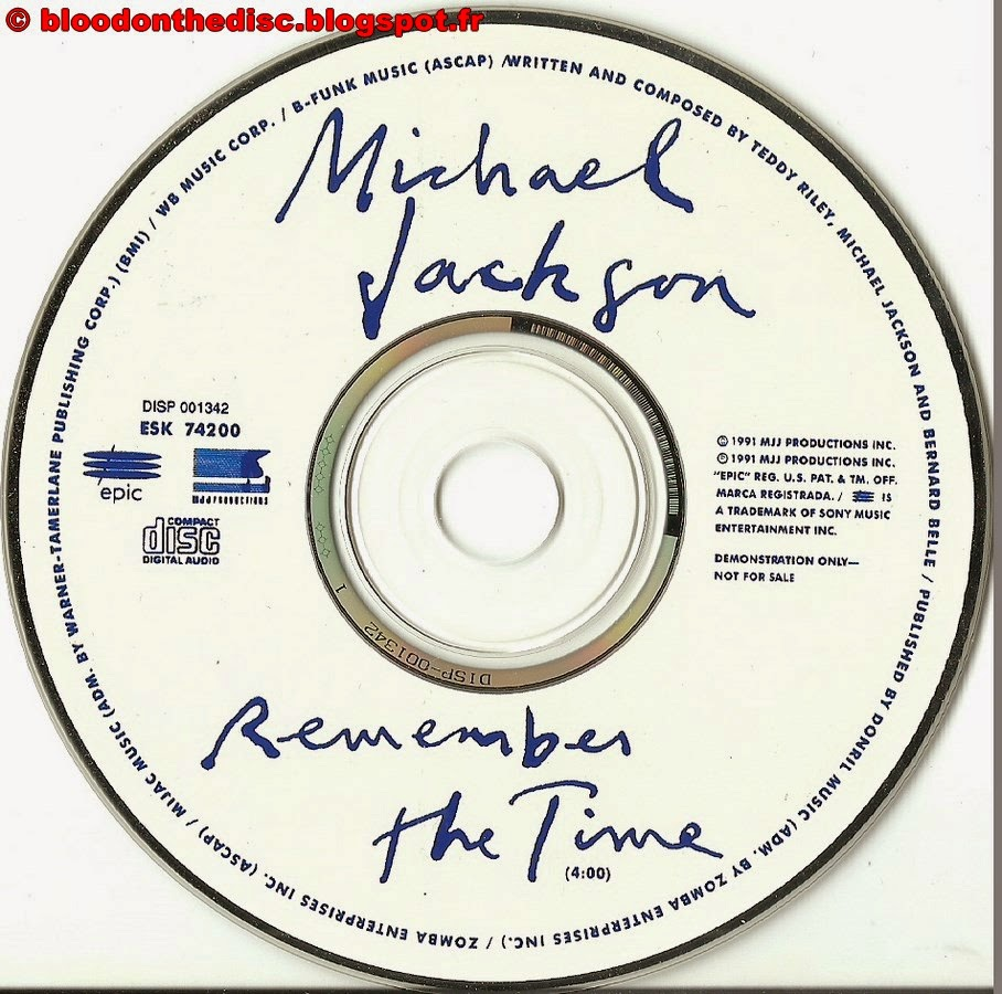 CD Promo Américain Remember The Time