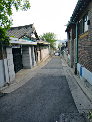 Back alley of Bukchon Hanok Village Seoul