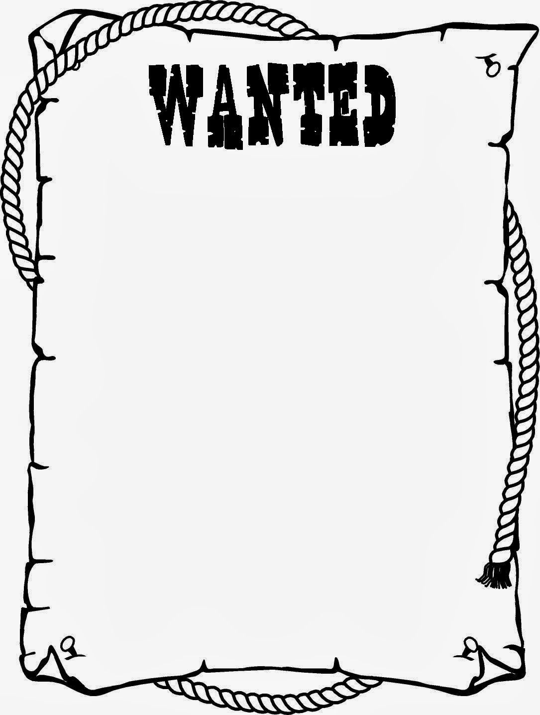 Miss tyler smith 39 s montessori 9 12 class cowboy theme for Free wanted poster template