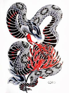 Funny Snake tatoo joke picture