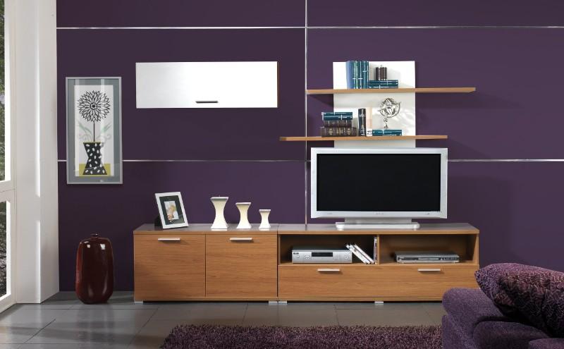Karruzel del hogar muebles de salon - Muebles color nogal ...