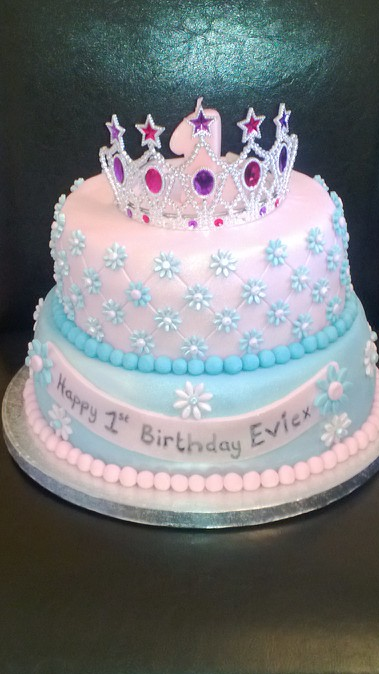 first birthday princess cake