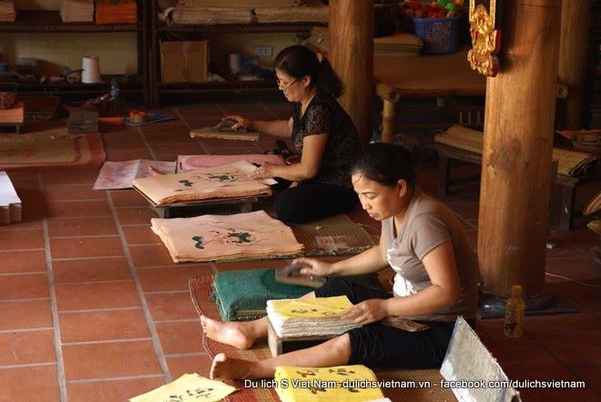Dong Ho painting village (Lang tranh Dong Ho) in Bac Ninh province