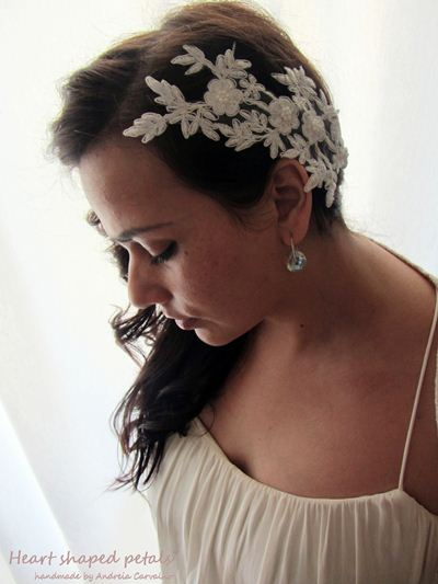 Lace bridal hair accessory