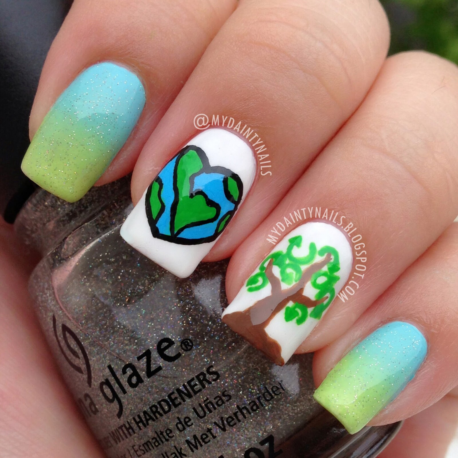 My Dainty Nails: Earth Day Nails