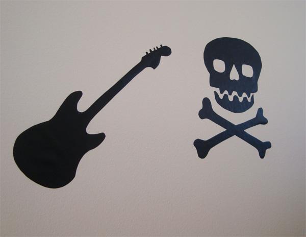 DIY: Adesivos de Parede Rock