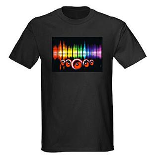 camiseta de leds barata activa con sonido