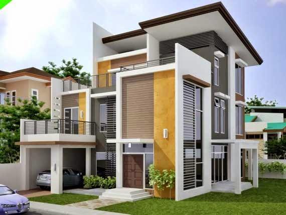 Desain Rumah Modern Lantai 2 Untuk Kalangan Menengah Atas