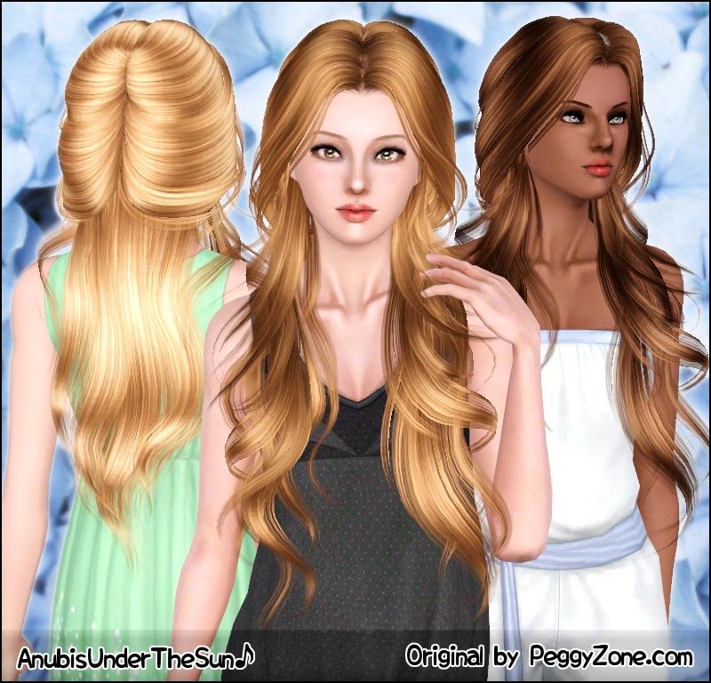 Причёски для симс 3 длинные волосы