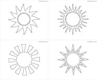 Four Coloring: Free printable Sunshine coloring pages for kids