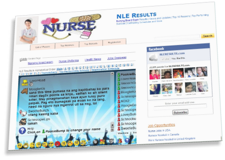 nle results website