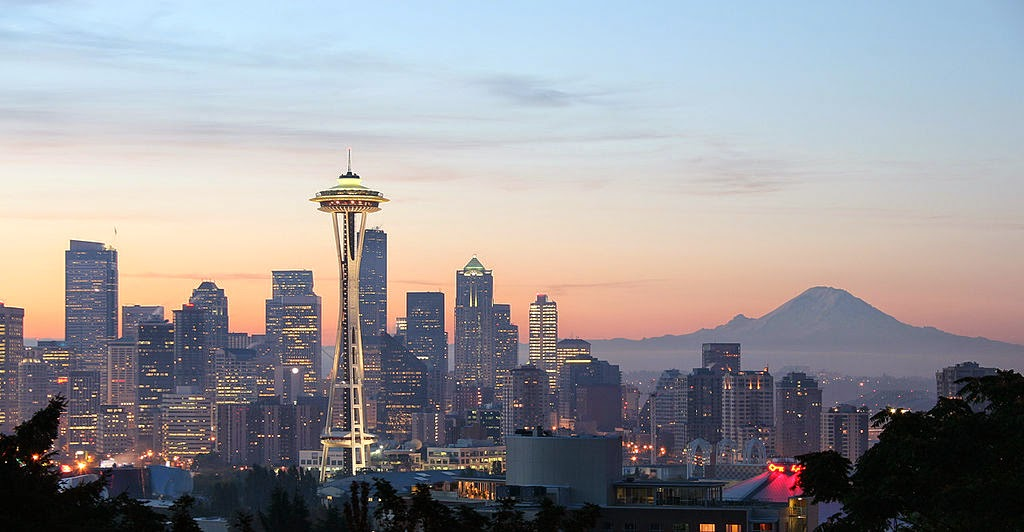 With the exception of the volcano in the background, Seattle's skyline didn't always look like this.